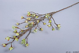 SILK BERRY MAPLE FRUIT BRANCH WHITE L110CM