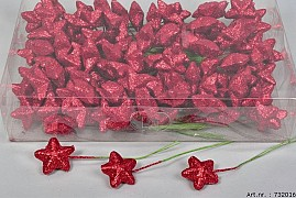 STAR PIN 4CM RED SET OF 108