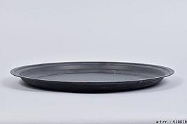 ZINC PLATE MATT BLACK 36X3CM
