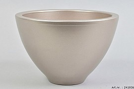 VINCI CHAMPAGNE BOWL SPHERE SHADED 27X18CM