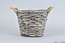 WOODWARD GREY POT BASKET 25X20CM