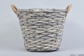 WOODWARD GREY POT BASKET 35X28CM
