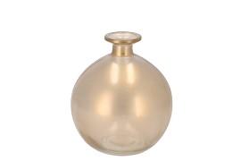 DRY GLASS GOLD MAT BOTTLE SPHERE SHADED 13X15CM