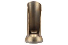 DHAKA GOLD CANDLE HOLDER 17X35CM
