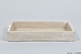 CONCRETE BOWL RECTANGLE 30X17X5CM