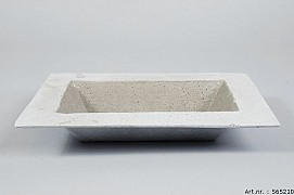 POLYSTONE BOWL RECTANGLE GREY 30X21X4CM