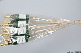 CHAMPAGNEFLES GREEN 3.5X13CM L60CM PER 12 STUKS